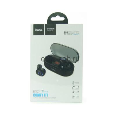 Беспроводные наушники ES24 с микрофоном черный Hoco купить оптом | cifra-spb.ru