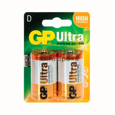 Батарейка LR20/2BL Ultra GP 2шт (цена за ед.) купить оптом | cifra-spb.ru
