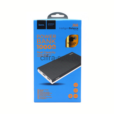 Power Bank 10000mAh J66 2USB Input PD/Micro серно-белый Hoco купить оптом | cifra-spb.ru
