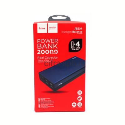 Power Bank 20000mAh J66A 4USB Input PD/Micro черно-синий Hoco купить оптом   cifra-spb.ru