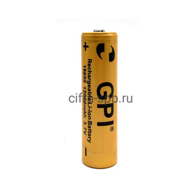 Аккумулятор 18650 12000 mAh 3.7V Li-ion GPI купить оптом | cifra-spb.ru