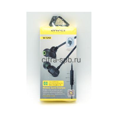 Беспроводные наушники WT20 с микрофоном черный Awei купить оптом | cifra-spb.ru