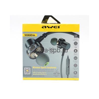 Беспроводные наушники X660BL с микрофоном серый Awei купить оптом   cifra-spb.ru
