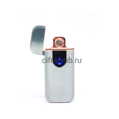 Зажигалка USB Z-7X серебро купить оптом   cifra-spb.ru