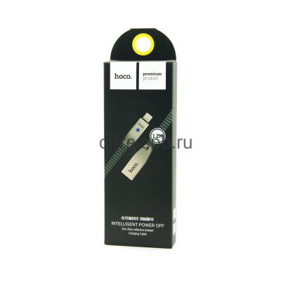 Кабель Lightning U11 2A черный Hoco 1.2m купить оптом | cifra-spb.ru