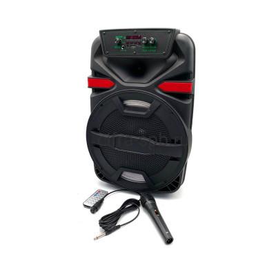 Беспроводная колонка ZQS-12105 + пульт + проводной микрофон черный купить оптом | cifra-spb.ru