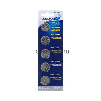 Батарейка CR2025 Pleomax 5шт. (цена за ед.) купить оптом | cifra-spb.ru