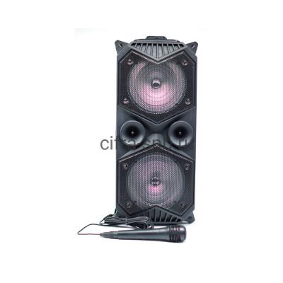 Беспроводная колонка ZQS-1819 + пульт + проводной микрофон черный купить оптом | cifra-spb.ru