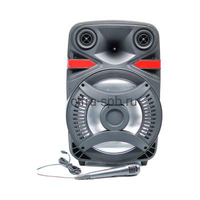 Беспроводная колонка ZQS-12103 + пульт + проводной микрофон черный купить оптом | cifra-spb.ru