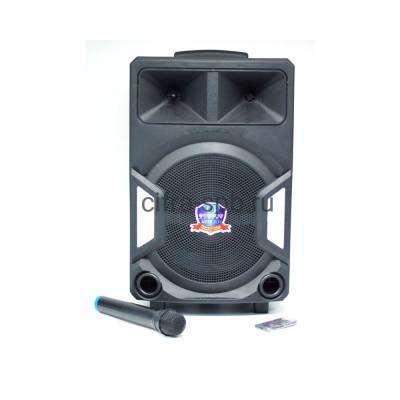 Беспроводная колонка LT-1207 + пульт + беспроводной микрофон черный купить оптом | cifra-spb.ru