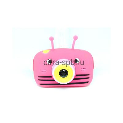 Детский фотоаппарат розовый + чехол Пчёлка купить оптом   cifra-spb.ru