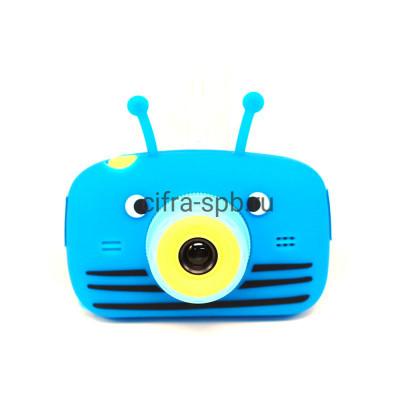 Детский фотоаппарат синий + чехол Пчёлка купить оптом   cifra-spb.ru