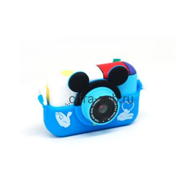 Детский фотоаппарат с селфи обьективом + чехол Микки маус синий купить оптом | cifra-spb.ru