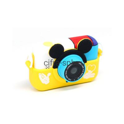 Детский фотоаппарат с селфи обьективом + чехол Микки маус желтый купить оптом | cifra-spb.ru