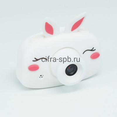 Детский фотоаппарат белый + чехол Зайчик купить оптом   cifra-spb.ru