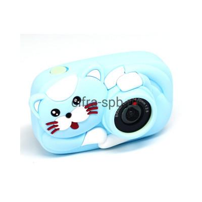 Детский фотоаппарат голубой с селфи обьективом + голубой чехол Кошка купить оптом | cifra-spb.ru