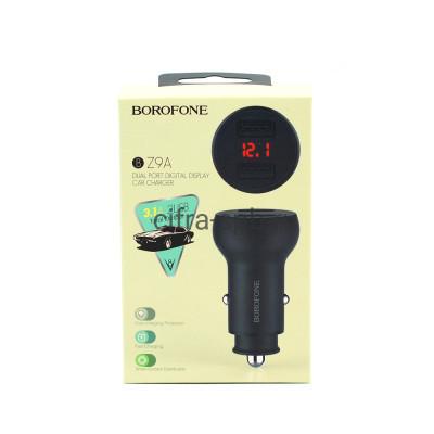АЗУ 2USB BZ9A 3.1A черный с дисплеем Borofone купить оптом | cifra-spb.ru