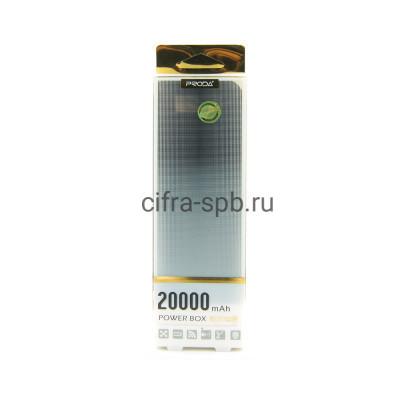 Power Bank 20000mAh 2USB черный Proda купить оптом | cifra-spb.ru