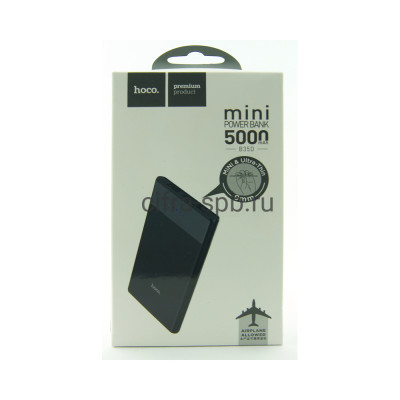 Power Bank 5000mAh B35D 2USB черный Hoco купить оптом | cifra-spb.ru
