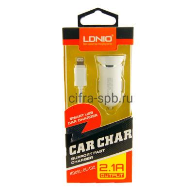 АЗУ USB DL-C12 2.1A + кабель Lightning LDNIO купить оптом | cifra-spb.ru