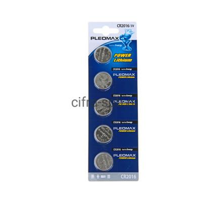 Батарейка CR2016 Pleomax 5шт. (цена за ед.) купить оптом | cifra-spb.ru