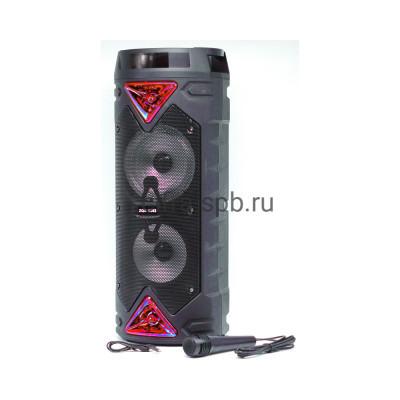 Беспроводная колонка ZQS-6203 + проводной микрофон черно-красный купить оптом | cifra-spb.ru
