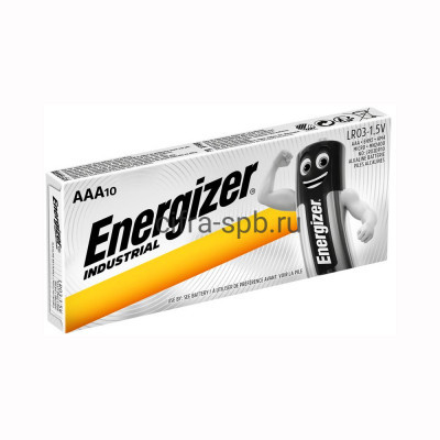Батарейка LR03 INDUSTRIAL Energizer 10шт (цена за ед.) купить оптом | cifra-spb.ru