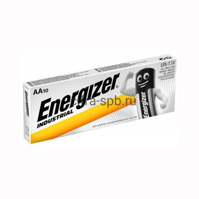 Батарейка LR6 INDUSTRIAL Energizer 10шт (цена за ед.) купить оптом | cifra-spb.ru