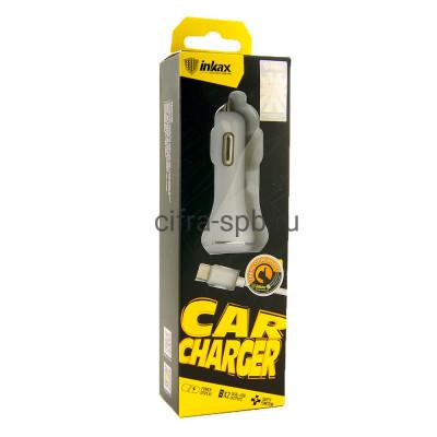 АЗУ 2USB CD-12 + кабель Lightning INKAX купить оптом | cifra-spb.ru