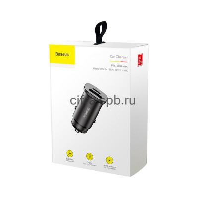 АЗУ USB+Type-C CCALL-AS01 QC3.0 30W черный Baseus купить оптом | cifra-spb.ru
