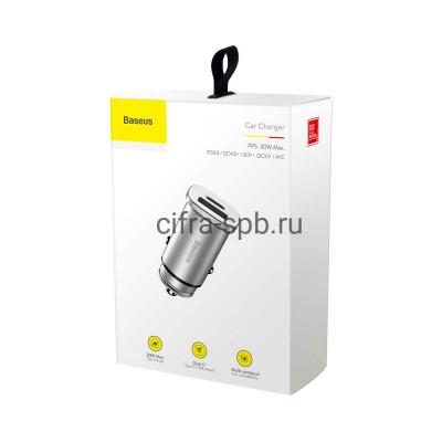 АЗУ USB + PD CCALL-AS0S QC3.0 30W серебро Baseus купить оптом | cifra-spb.ru