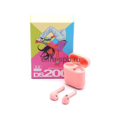 Беспроводные наушники DS200 c микрофоном розовый купить оптом | cifra-spb.ru