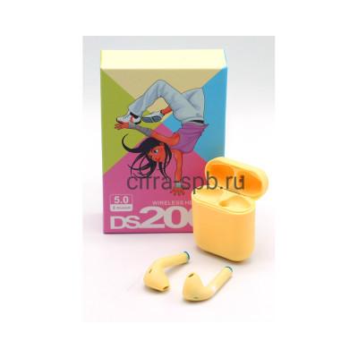 Беспроводные наушники DS200 c микрофоном желтый купить оптом | cifra-spb.ru