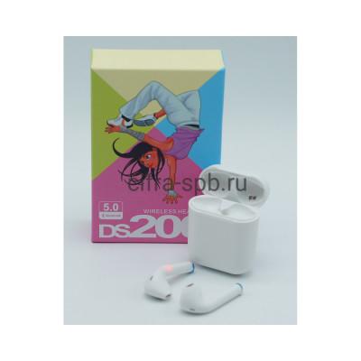 Беспроводные наушники DS200 c микрофоном белый купить оптом | cifra-spb.ru