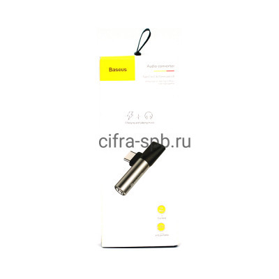Аудио конвертор L41 Type-C на Type-C + 3.5 Jack CATL41-S1 черно-серый Baseus купить оптом | cifra-spb.ru