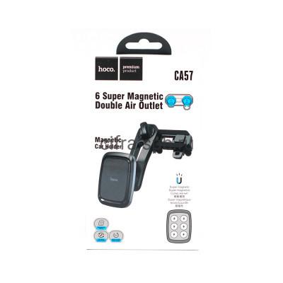 Держатель для телефона CA57 магнитный в решетку черный Hoco купить оптом | cifra-spb.ru