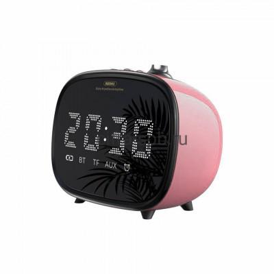 Беспроводная колонка RB-M52 + часы + будильник розовый Remax купить оптом | cifra-spb.ru