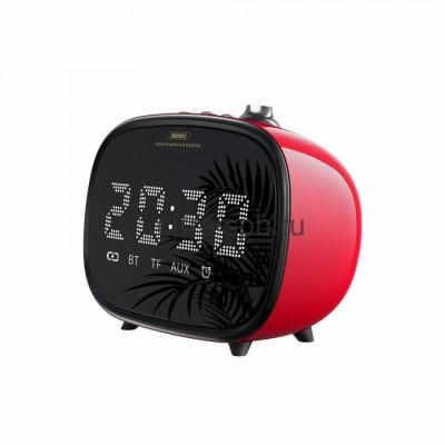 Беспроводная колонка RB-M52 + часы + будильник красный Remax купить оптом | cifra-spb.ru
